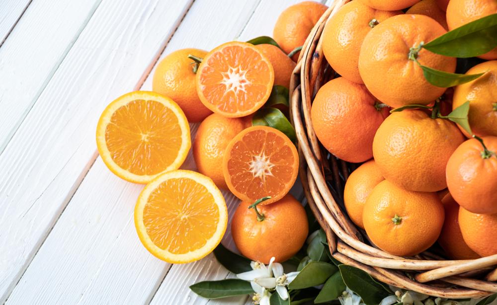 Un cesto di arance