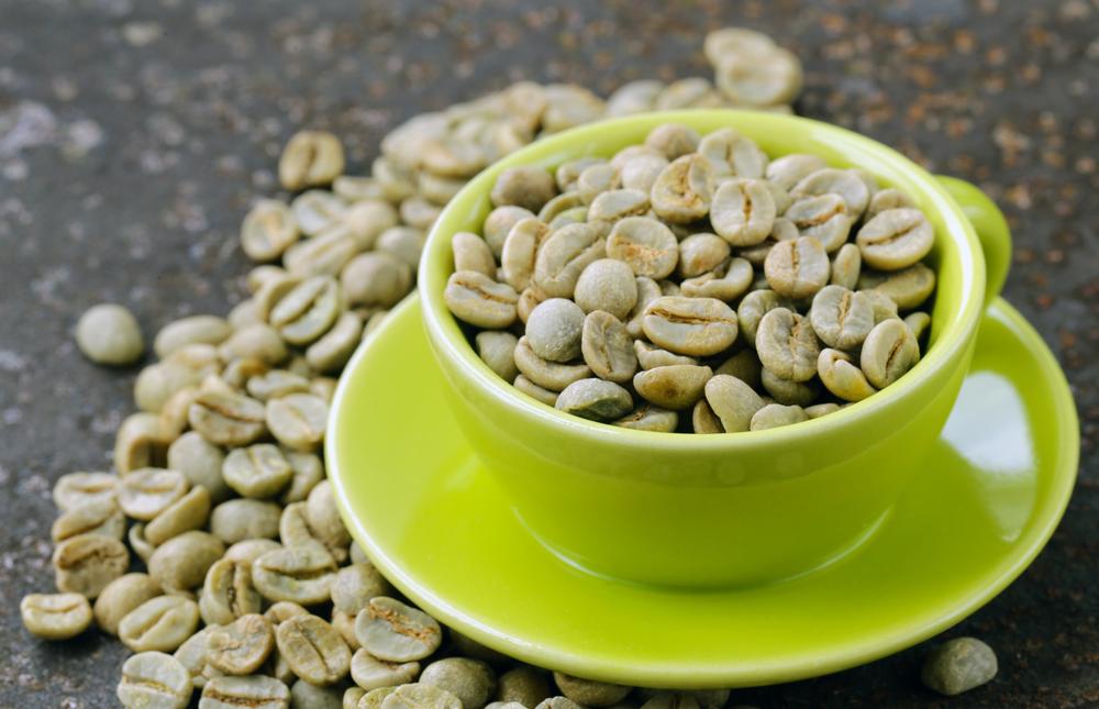 Il caffè verde in chicchi
